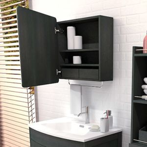 marque generique armoire de toilette en bois avec 1. Black Bedroom Furniture Sets. Home Design Ideas