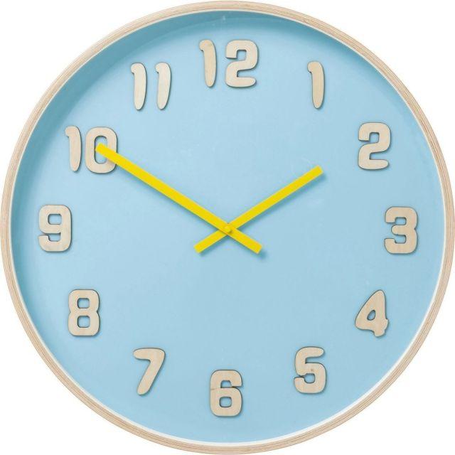 Karedesign - Horloge murale Nature Colore bleu clair Kare Design 6cm x 53cm x 53cm
