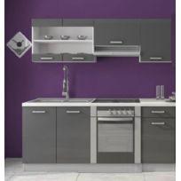 cuisine gris laque - Achat cuisine gris laque pas cher - Rue du ...