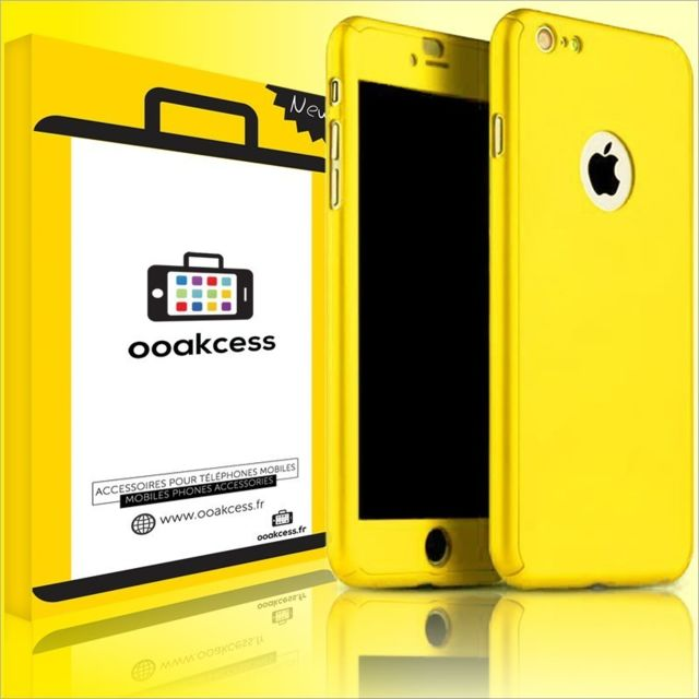 coque apple jaune iphone 6