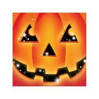 Amscan International - Serviettes citrouille Halloween x16