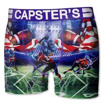 Capster'S Official - Boxer Homme Microfibre Wga Bleu Vert