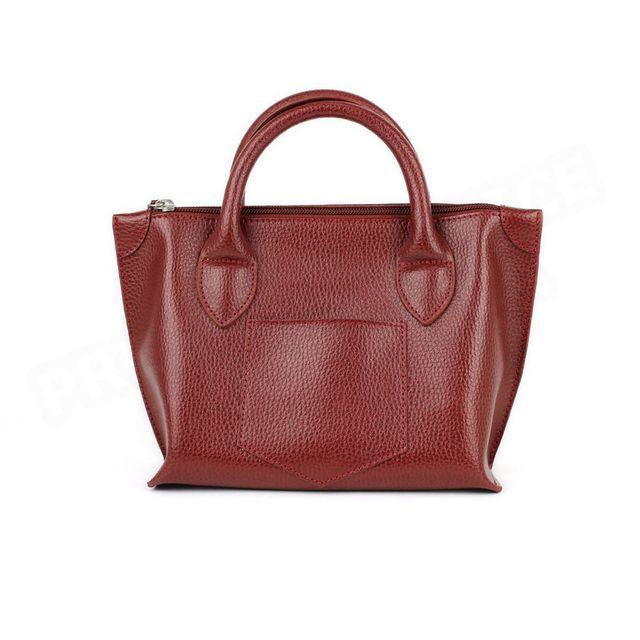 Volumica - Mini Sac Cabas Marie cuir Rouge bordeaux Beaubourg - pas ... 21d5273836b1
