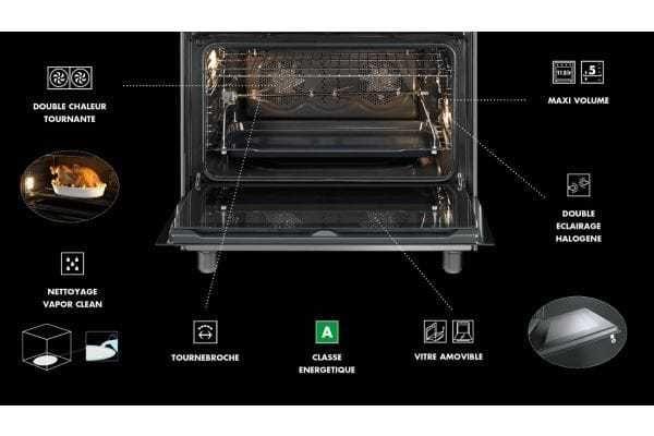 SMEG - Piano de cuisson gaz SCB91MFN9