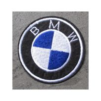 Universel - Patch bmw logo rond ecusson thermocollant voiture moto