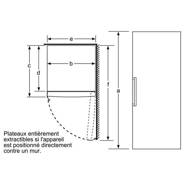 Bosch - Congélateur armoire 360L - GSN58VW30
