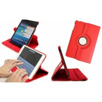 Wellkom - Housse de protection cuir pour Galaxy Tab 2 10.1'' - Cuir Rouge