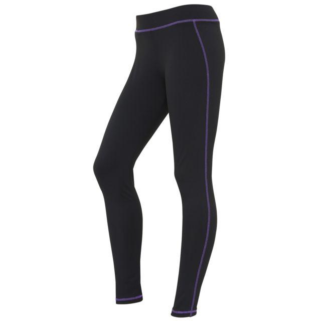 Leggings de sport Femme XS, NoirPourpre Utrw3475