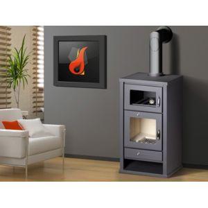 belleza po le bois avec four deluxe f 11 kw surface de chauffe 110m pas cher achat. Black Bedroom Furniture Sets. Home Design Ideas