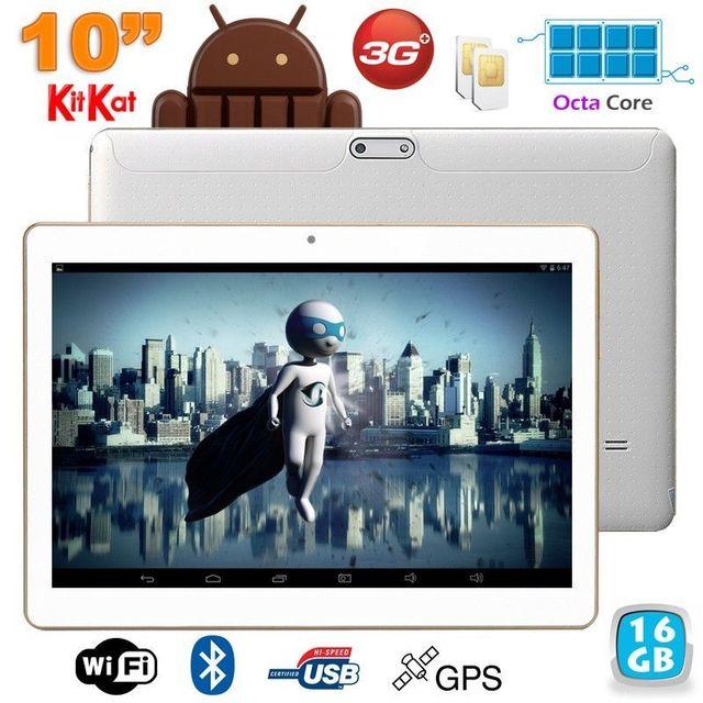 Yonis Tablette 3G 10 pouces Octa Core 2GHz 2Go Ram Android Dual Sim Gps 16Go