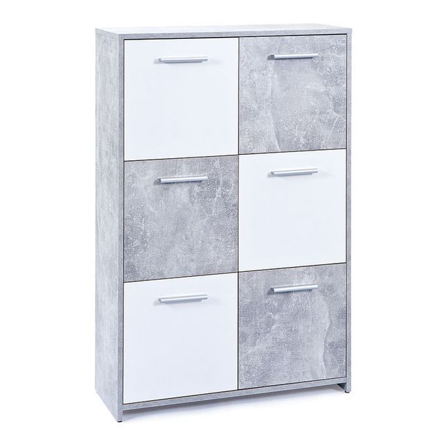 Paris Prix Commode 6 Portes Miller Gris
