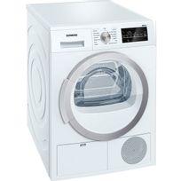 Siemens - sèche linge à condenseur 60cm 9kg b blanc - wt46g400ff