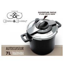 CuisineCooking - Autocuiseur 7 L. Inox Noir Cuisine & Cooking