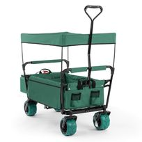 Waldbeck - The Green Supreme Chariot Remorque pliable 68kg toit ouvrant
