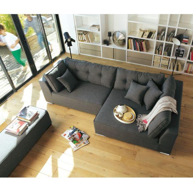 alin a coming canap d 39 angle droit avec banc achat vente canap s pas chers rueducommerce. Black Bedroom Furniture Sets. Home Design Ideas
