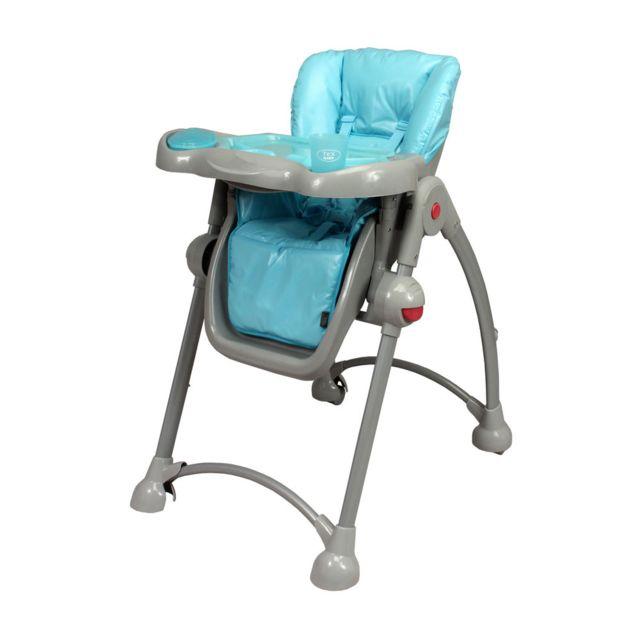 Tex Baby Chaise Haute Télescopique Bébé Tex Gris Et