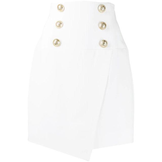 BALMAIN Femme Tf14027V0890FA Blanc Viscose Jupe