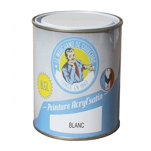 Peinture Acrylique Murs Et Plafonds Satin Bleu Zephire 0 5 L