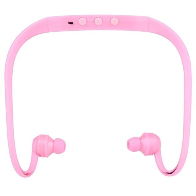 Wewoo Casque Bluetooth Sport Rose Pour Les Smartphone Et Ipad