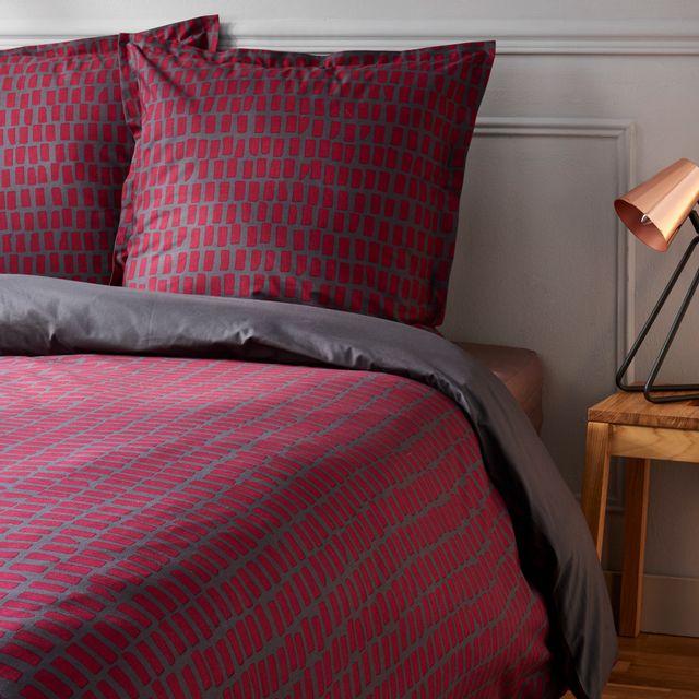 tex home parure tiret housse de couette 2 taies d 39 oreiller en percale bio pas cher achat. Black Bedroom Furniture Sets. Home Design Ideas
