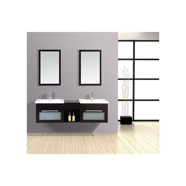 rocambolesk magnifique meuble salle de bain ch ne complet bahamas meuble 2 vasques 2. Black Bedroom Furniture Sets. Home Design Ideas