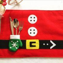 Wewoo - Ornements de noël Décoration Père Set Set table avec porte-gant