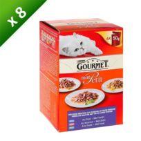 Gourmet - Petit Repas Multi poisson - 6x50g x8 Pour chat adulte