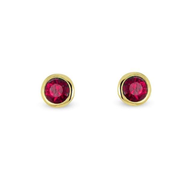 boucle d'oreille rubis et or