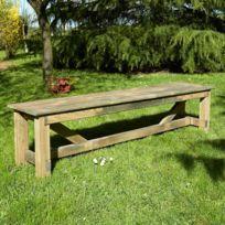 Cemonjardin - Banc de jardin en bois Normand