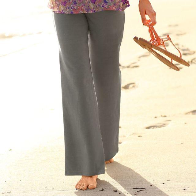 Blancheporte - Pantalon en maille fluide - pas cher Achat   Vente Pantalon  femme - RueDuCommerce bf02099d889