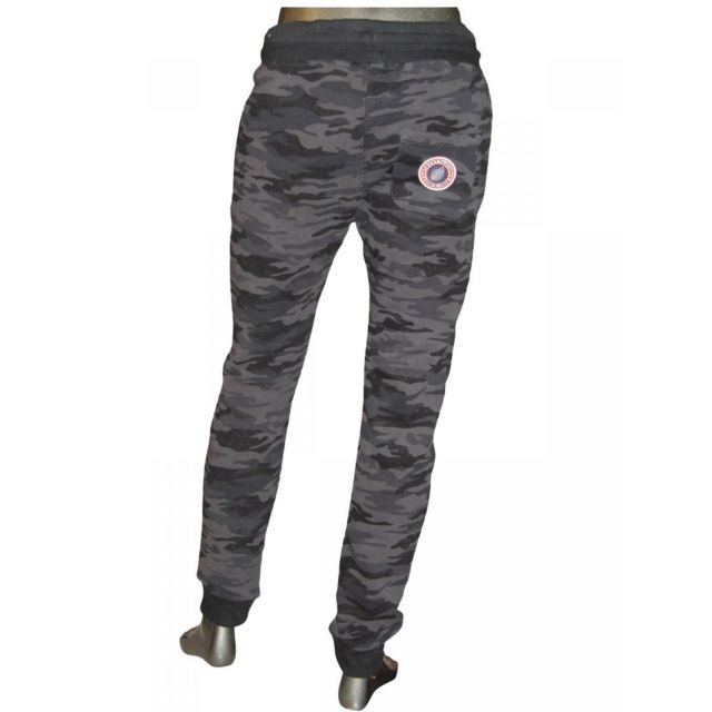 Sweet Pants Pantalon de jogging kid slim print camouflage black noir ado mixte