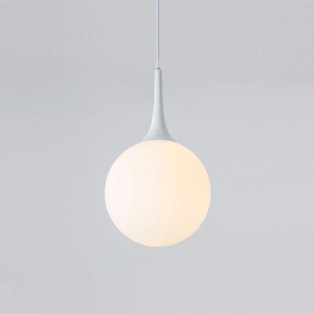 Lampe suspendue Luminaire Salon Nordic Moderne Suspension Cercle en Verre  Boule Avec E27 Edison Ampoule Parfait pour Cuisine Salle à Manger Chambre à  ...
