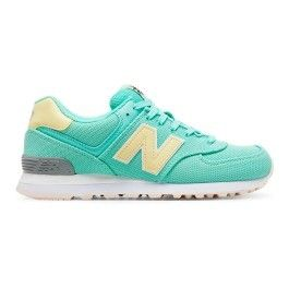 énorme réduction 26981 7a5b6 New Balance - Baskets Wl 574 Core Plus bleu jaune femme ...
