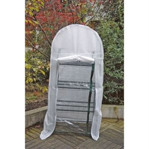 serre de balcon 4 niveaux hivernage 69x49x160cm pas cher achat vente serres en verre. Black Bedroom Furniture Sets. Home Design Ideas