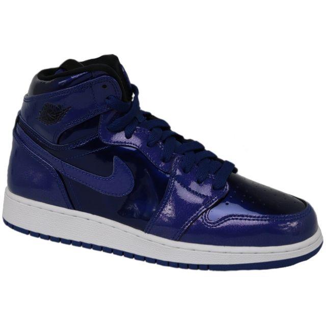 Jordan - Air 1 Retro High Bg 705300-420 Violet 38 1/2 - pas cher Achat / Vente Baskets enfant - RueDuCommerce