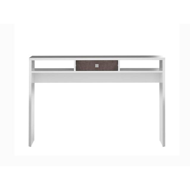 symbiosis console design 1 tiroir 2 niches blanc effet b ton l120xp28cm pure 0cm x 0cm x 0cm. Black Bedroom Furniture Sets. Home Design Ideas