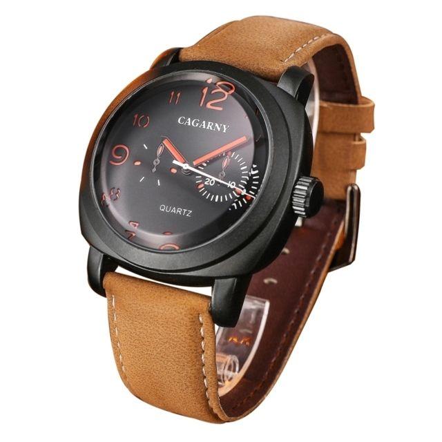 Wewoo - Montre rouge pour les hommes échelle mode cinq aiguilles Quartz  Sport montre-bracelet ab9f08c48eb