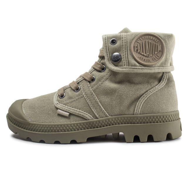 6dd7cb9b6566 Palladium - Pallabrousse Kaki Femme - pas cher Achat   Vente Boots ...