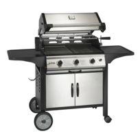 Alperk - Barbecue à Gaz 81x56,8 cm Puiss. 15,75kW mod. Sy3H + Kit Tournebroche + Housse