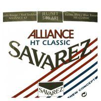 Savarez - Ht Classic 540ARJ Alliance Rouge/bleu polies Tirant Normal/fort - Jeu de cordes guitare classique
