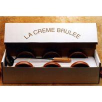 C. Diffusion - Coffret Crème Brulée :6 ramequins+ fer Brunisseur