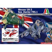 The Hobby Company - Maquette avion et hélicoptère : Coffret Malouines 1982-2012 Harrier Gr.3 Falklands et Wessex Uh-5