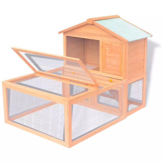 Vidaxl Cage pour animaux Bois - 170346 | Brun