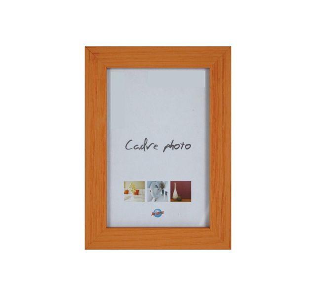 Ariane Cadre photo 10x15cm en bois orange, coloris tendances
