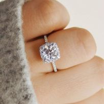 bague argent diamantor