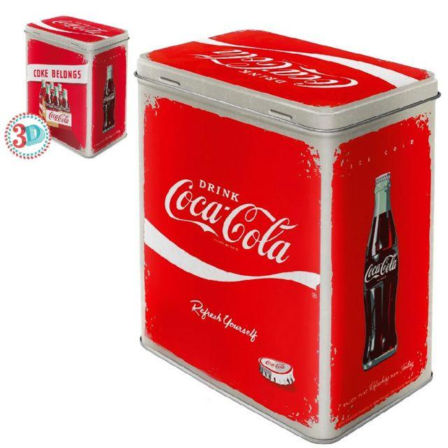 Coca-cola - Grande Boite rectangulaire métallique Multicolor