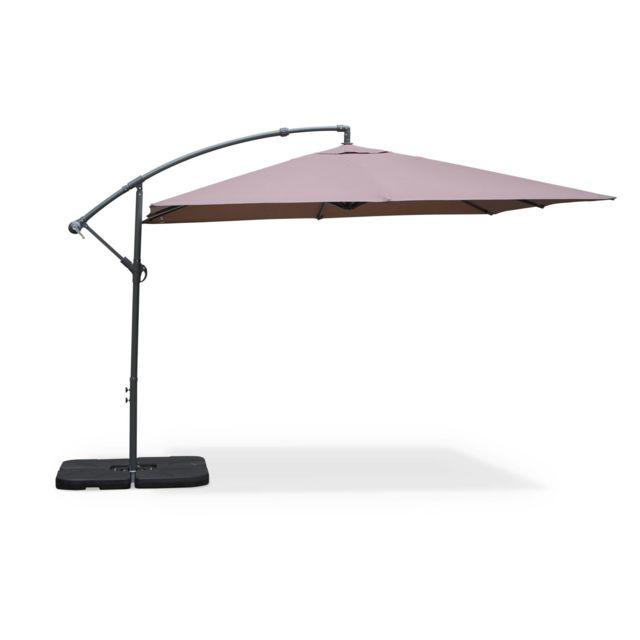 alice 39 s garden parasol d port carr 3x3m hardelot. Black Bedroom Furniture Sets. Home Design Ideas