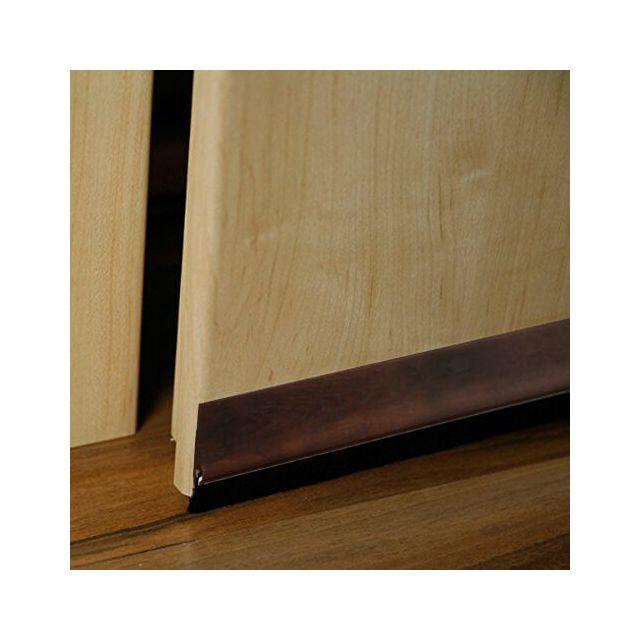 Empasa bas de porte autocollant avec brosse pvc marron - Porte pvc marron ...