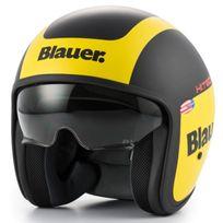 Blauer - casque jet moto scooter Pilot Graphic G fibre noir jaune mat