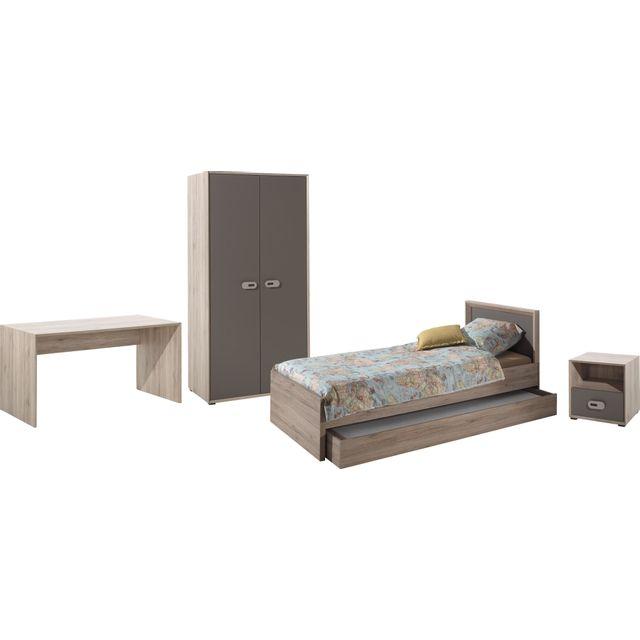 COMFORIUM - Ensemble complet 5 pièces pour chambre moderne avec lit ...
